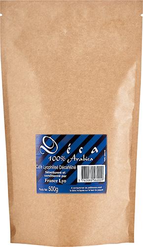 café soluble lyophilisé décaféiné